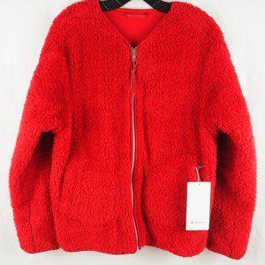 Lululemon Oh So Sherpa Full Zip Jacket Dark Red 10